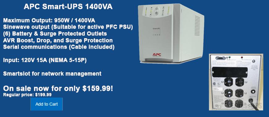 APC Smart-UPS 1400VA SU1400NET on Sale for $199.99