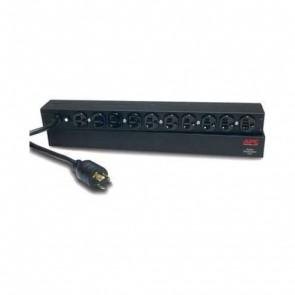 APC AP9564 Basic Rack PDU, 1U, 20A, 120V, Input: L5-20P Output: (10)5-20R - Refurbished