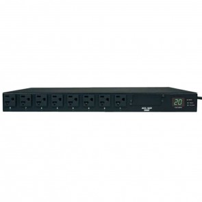 Tripp Lite PDUMH20HV 3.2-3.8kW Metered PDU, C20, 200-240V Input, (8)C13, (2) C19 Output - Refurbished